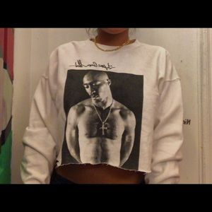 tupac cropped sweater